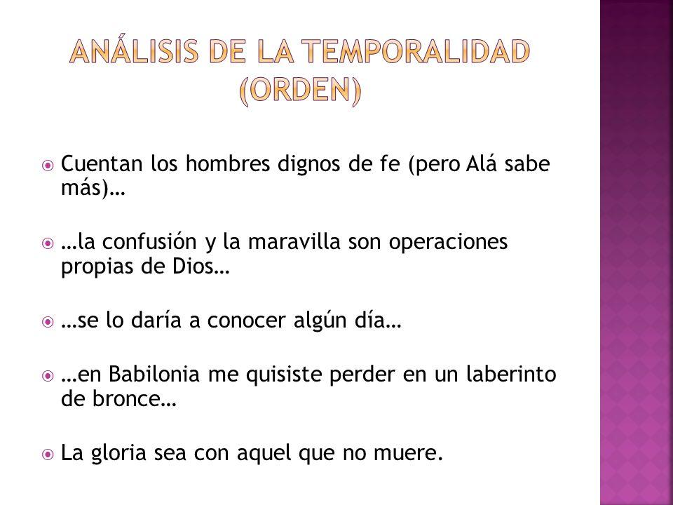Análisis de la temporalidad (orden)