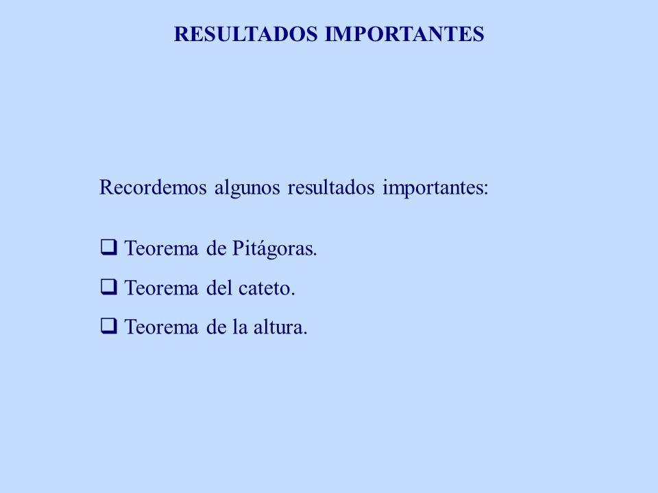 RESULTADOS IMPORTANTES