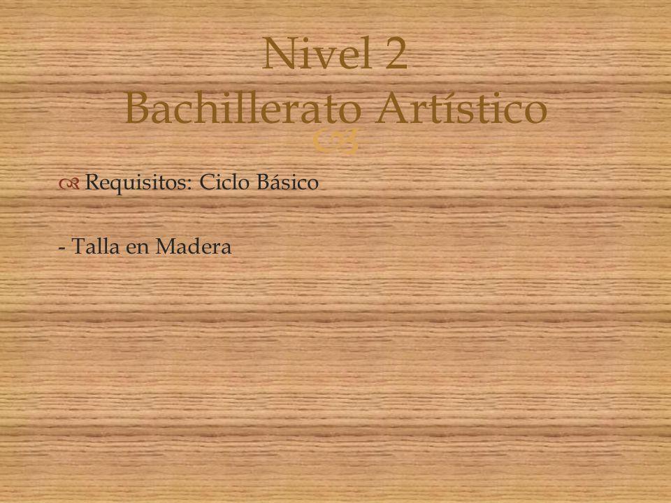 Nivel 2 Bachillerato Artístico