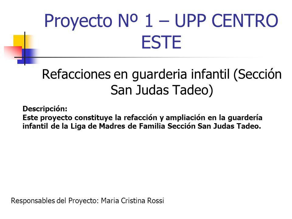 Proyecto Nº 1 – UPP CENTRO ESTE