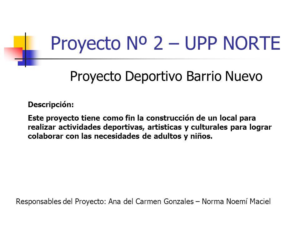 Proyecto Deportivo Barrio Nuevo