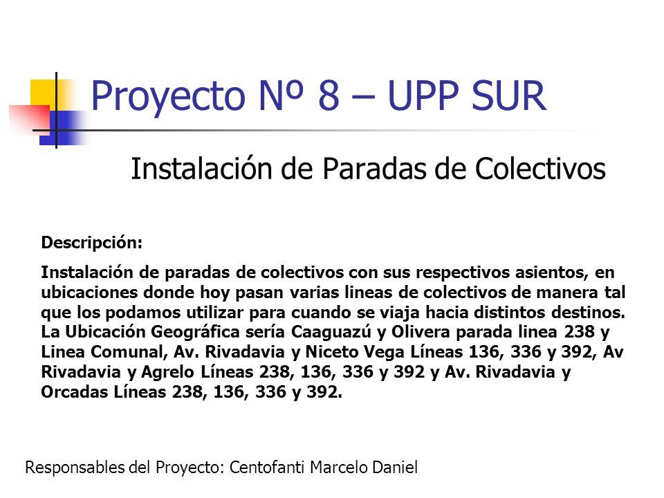 Instalación de Paradas de Colectivos