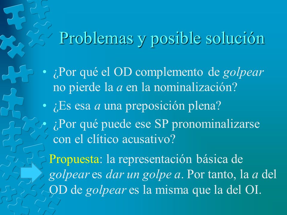 Problemas y posible solución