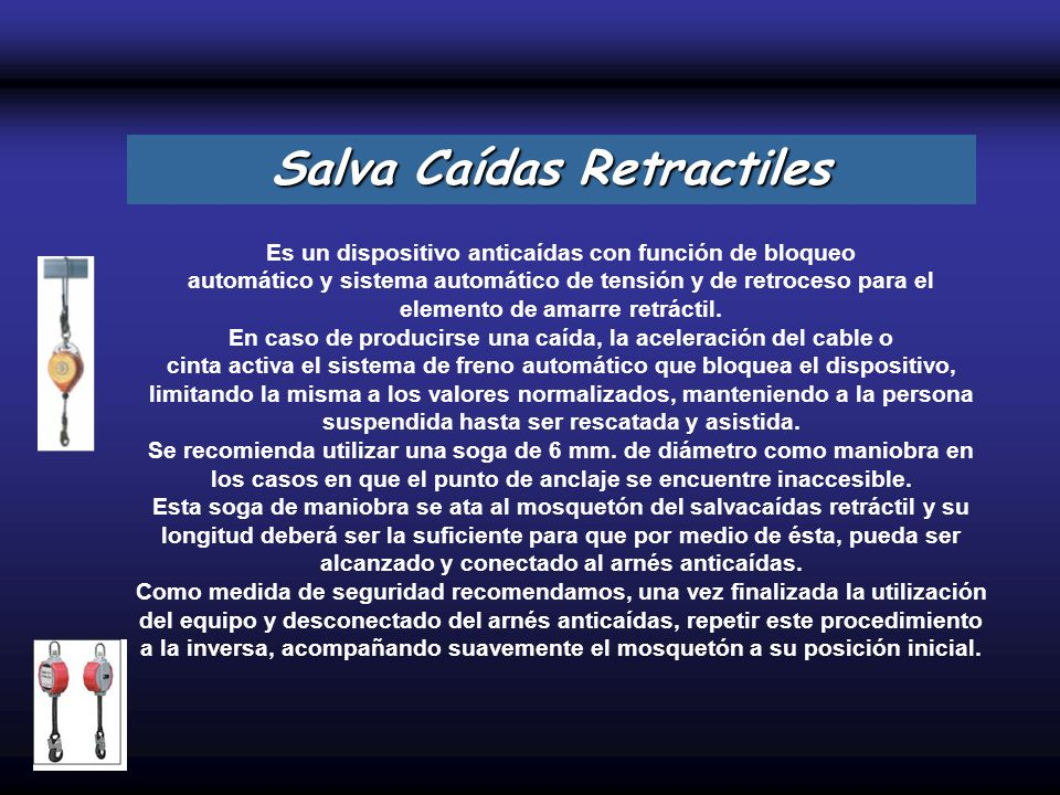 Salva Caídas Retractiles
