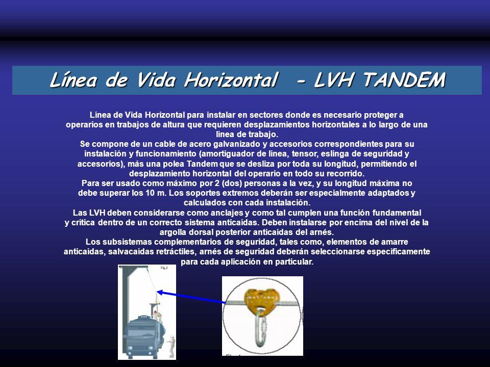 Línea de Vida Horizontal - LVH TANDEM