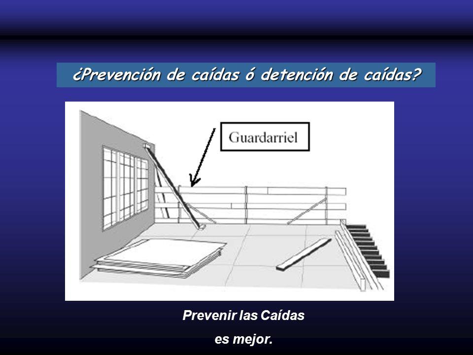 ¿Prevención de caídas ó detención de caídas