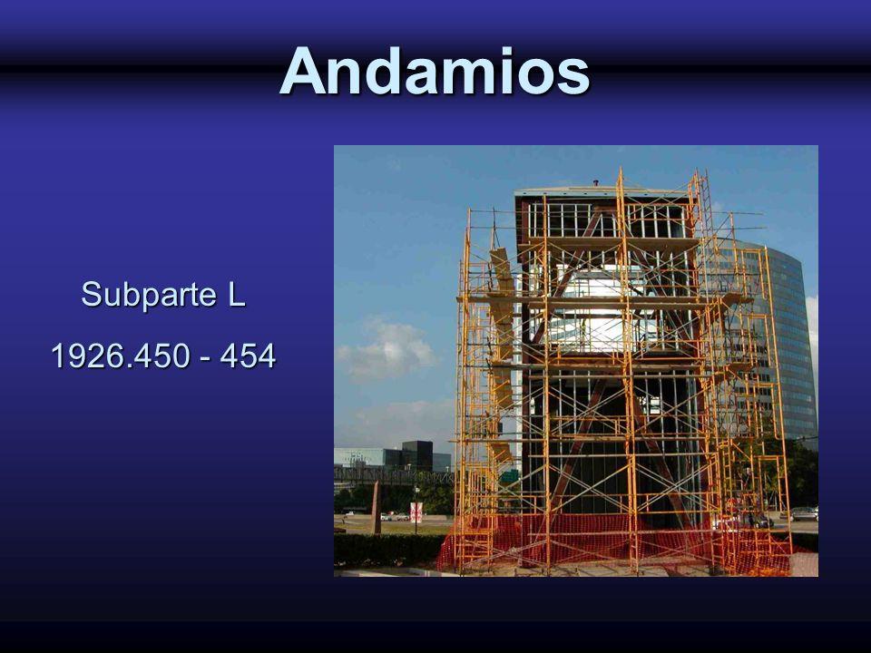 Andamios Subparte L 1926.450 - 454 1926 Subpart L - Scaffolding