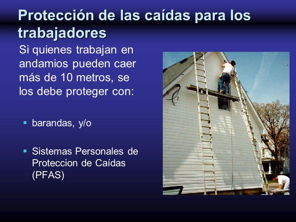 Protección de las caídas para los trabajadores