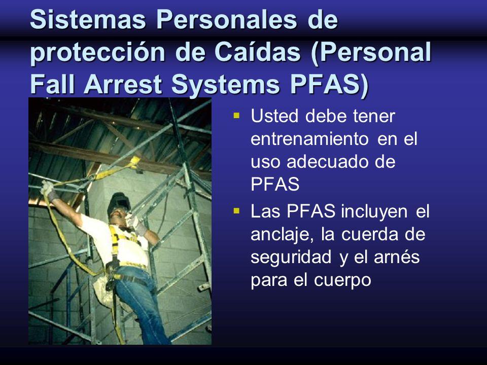 Sistemas Personales de protección de Caídas (Personal Fall Arrest Systems PFAS)