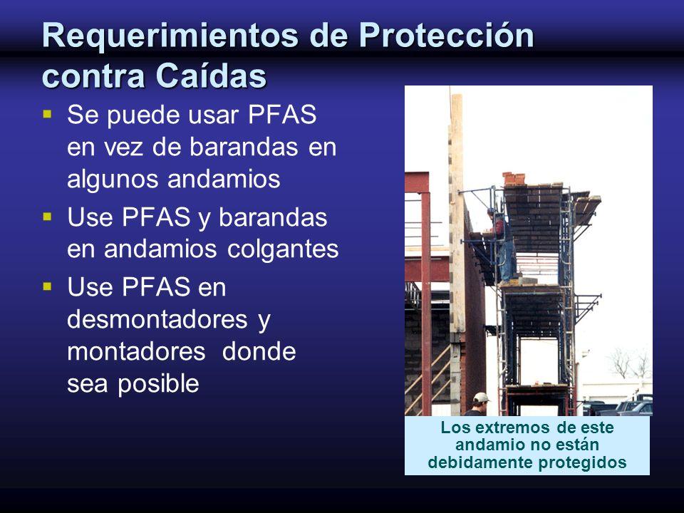 Requerimientos de Protección contra Caídas