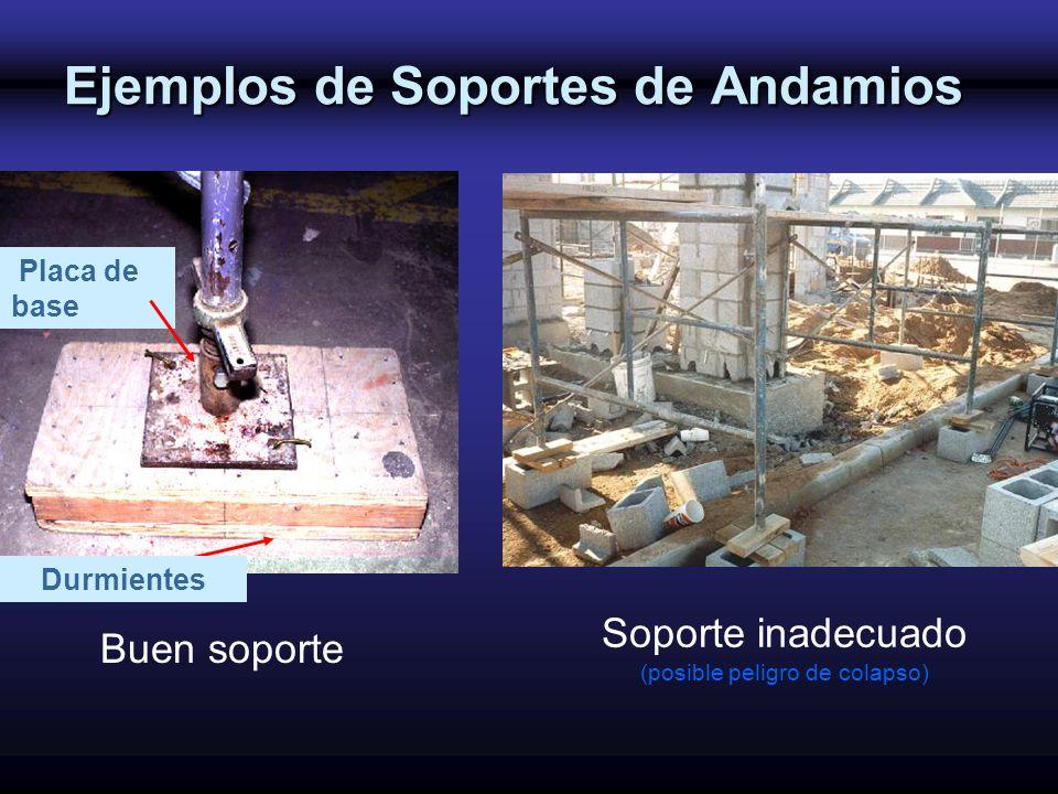 Ejemplos de Soportes de Andamios