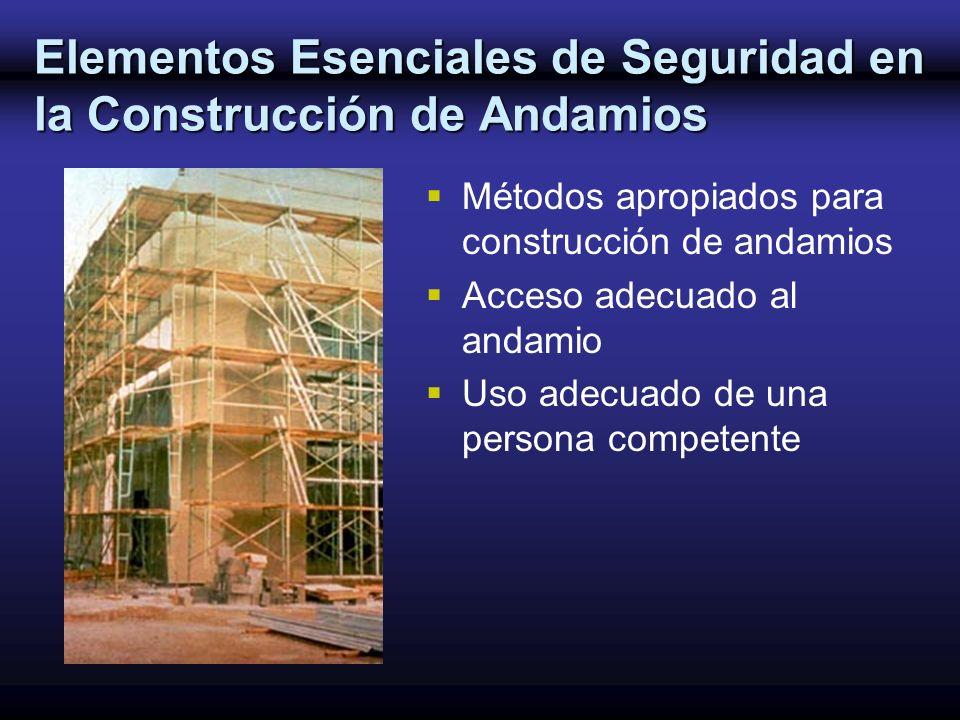 Elementos Esenciales de Seguridad en la Construcción de Andamios