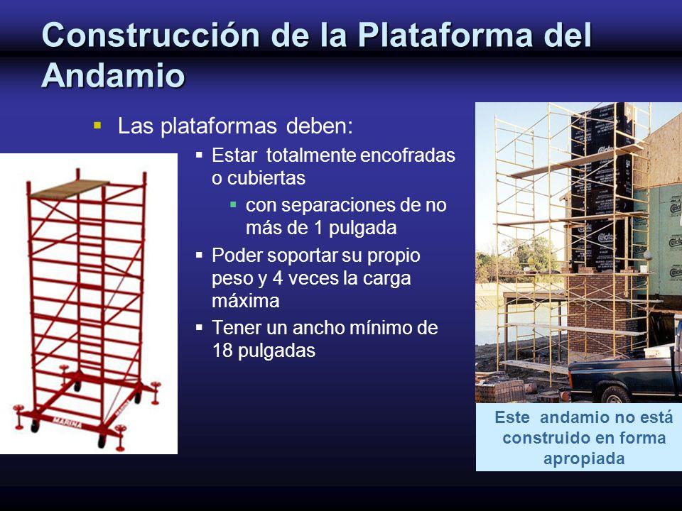 Construcción de la Plataforma del Andamio