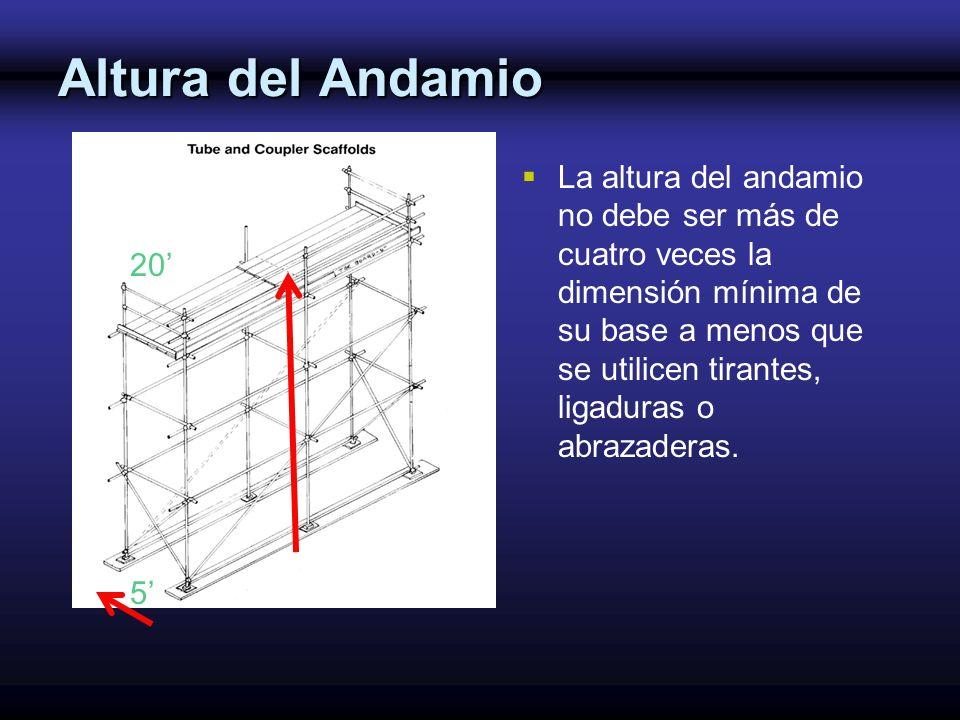 Altura del Andamio