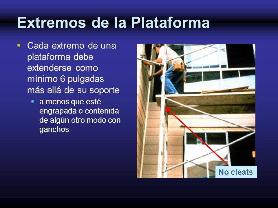 Extremos de la Plataforma