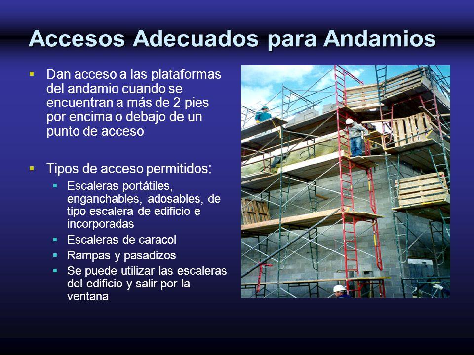 Accesos Adecuados para Andamios