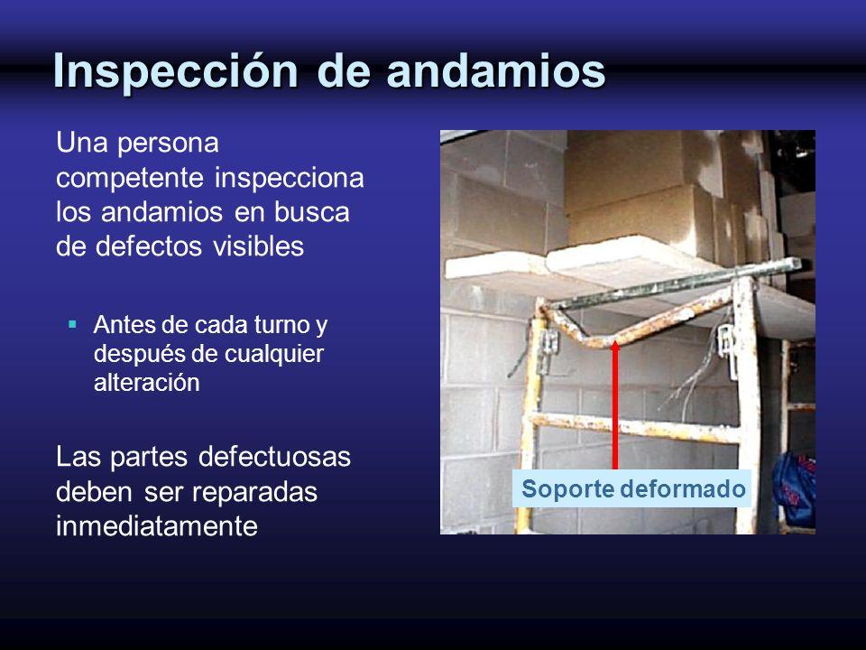 Inspección de andamios