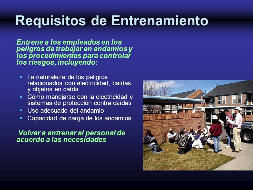 Requisitos de Entrenamiento