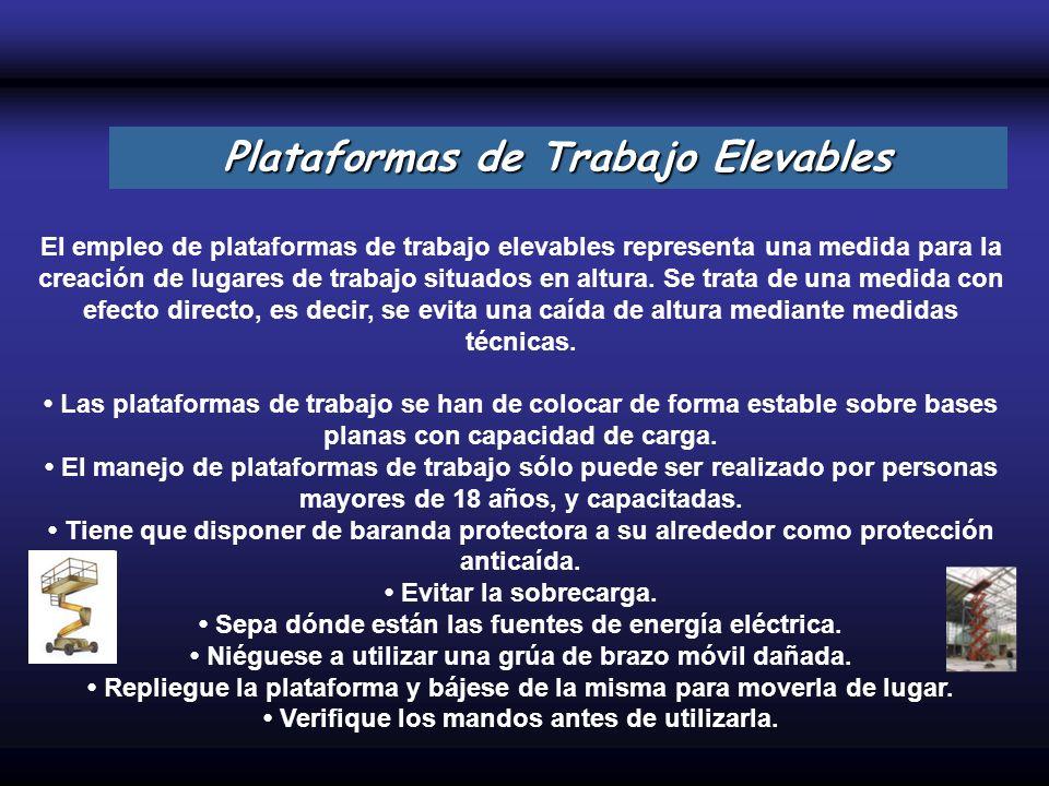 Plataformas de Trabajo Elevables