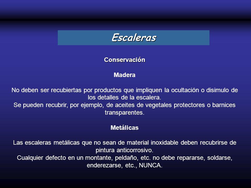 Escaleras Conservación Madera
