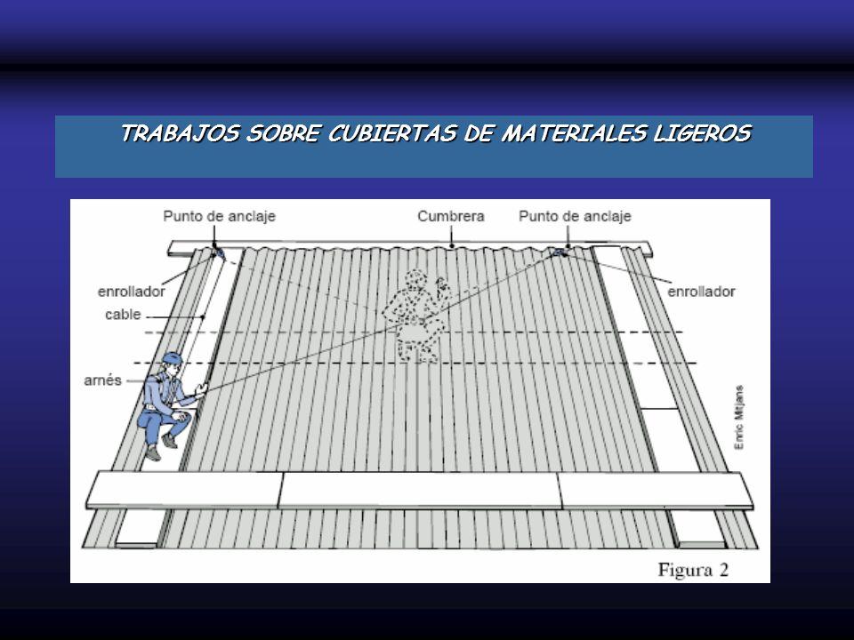 TRABAJOS SOBRE CUBIERTAS DE MATERIALES LIGEROS