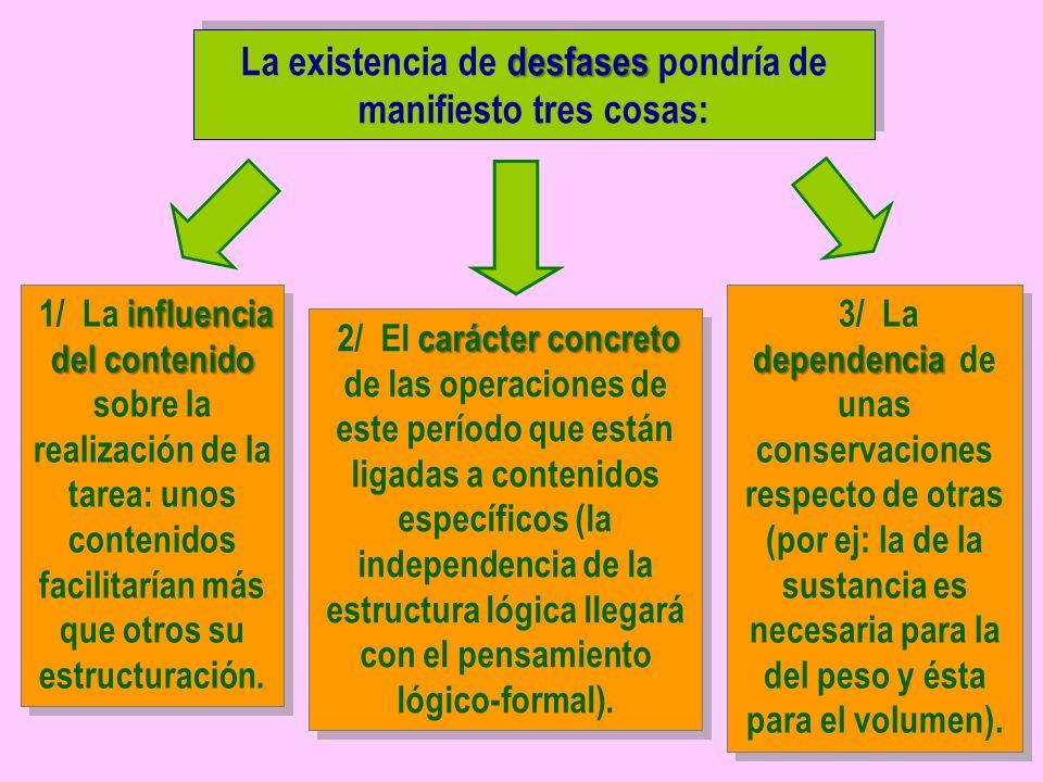 La existencia de desfases pondría de manifiesto tres cosas: