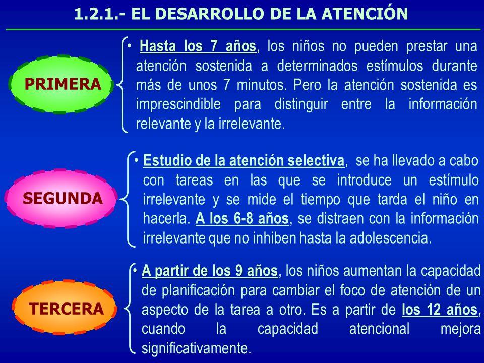 1.2.1.- EL DESARROLLO DE LA ATENCIÓN