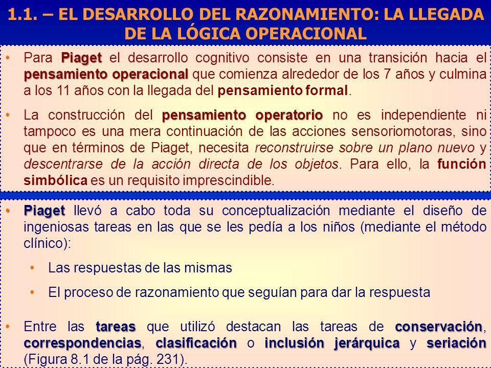 1.1. – EL DESARROLLO DEL RAZONAMIENTO: LA LLEGADA DE LA LÓGICA OPERACIONAL