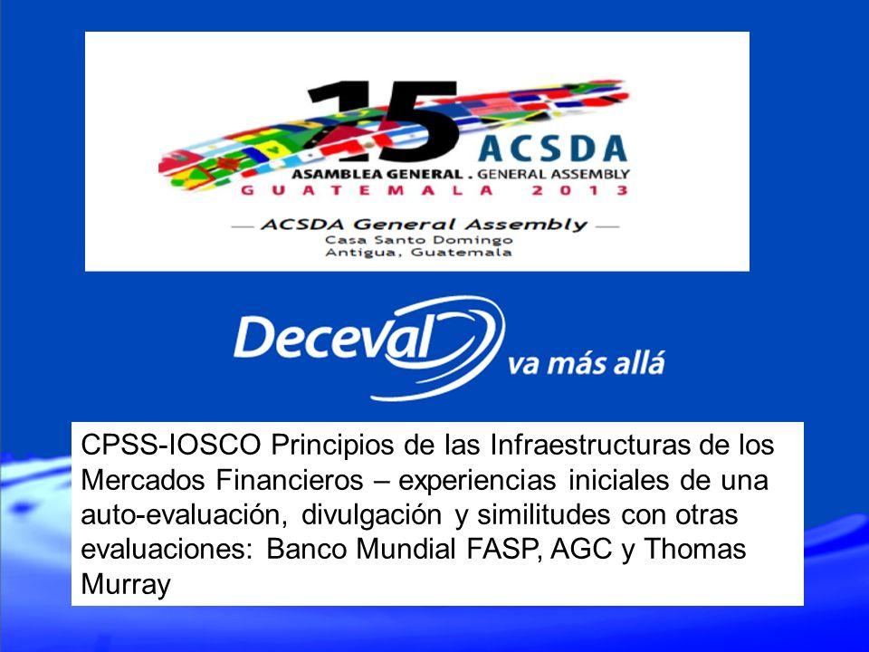 CPSS-IOSCO Principios de las Infraestructuras de los