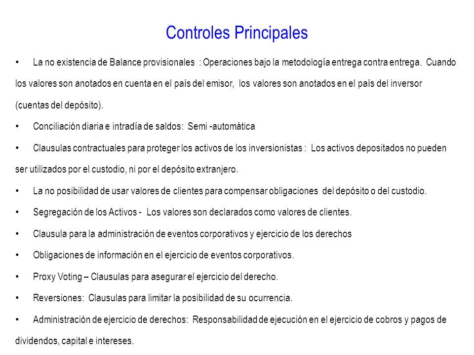 Controles Principales
