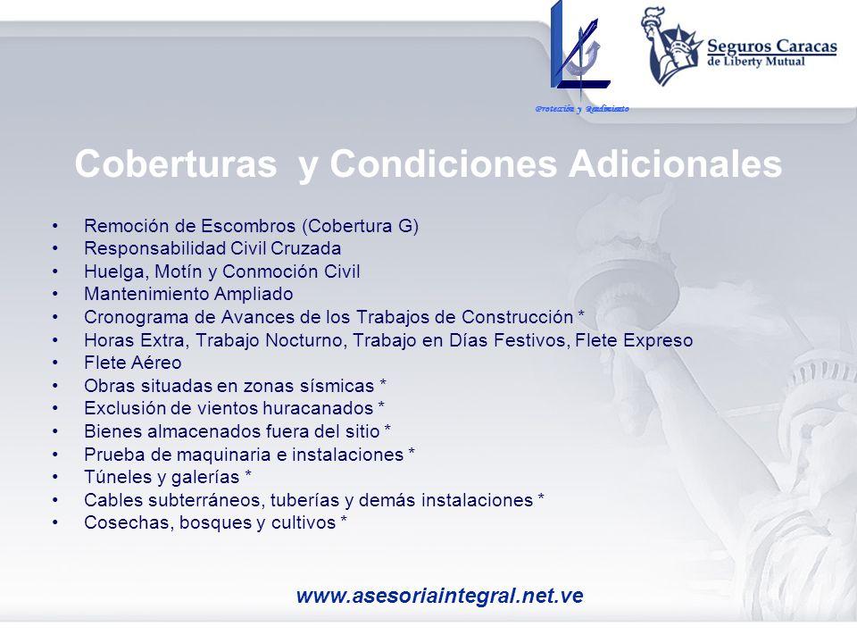 Coberturas y Condiciones Adicionales