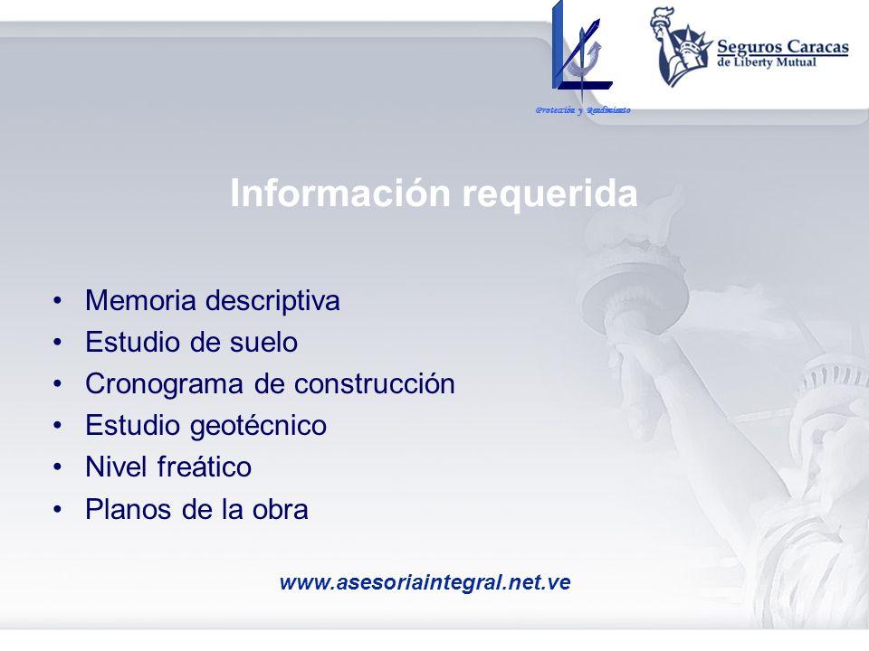 Información requerida