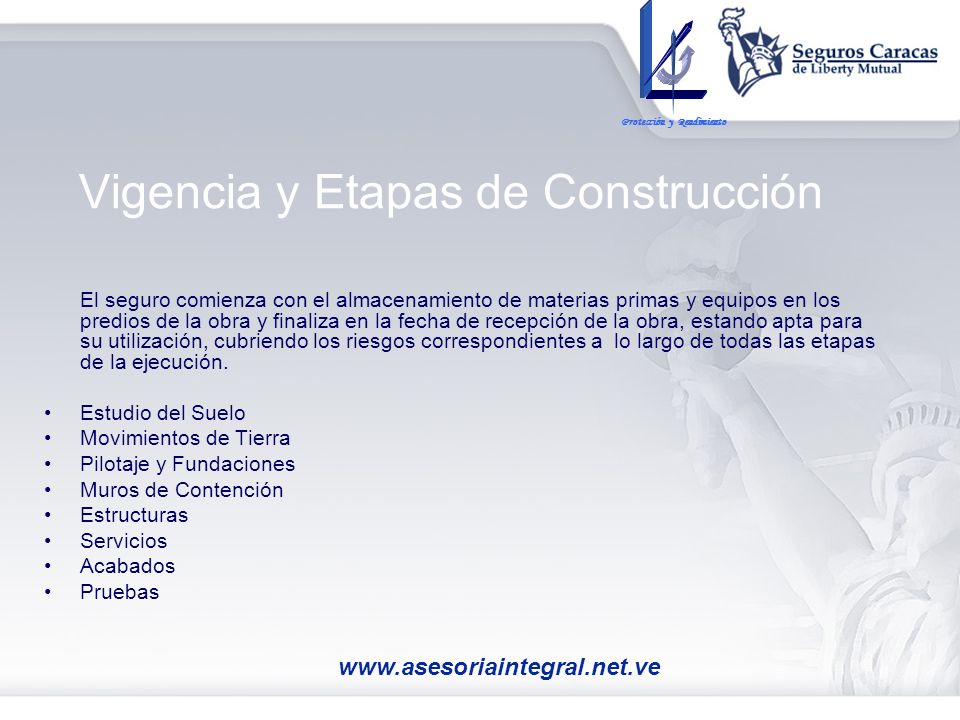 Vigencia y Etapas de Construcción