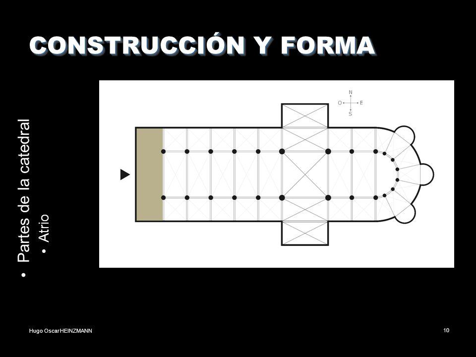 CONSTRUCCIÓN Y FORMA Partes de la catedral Atrio