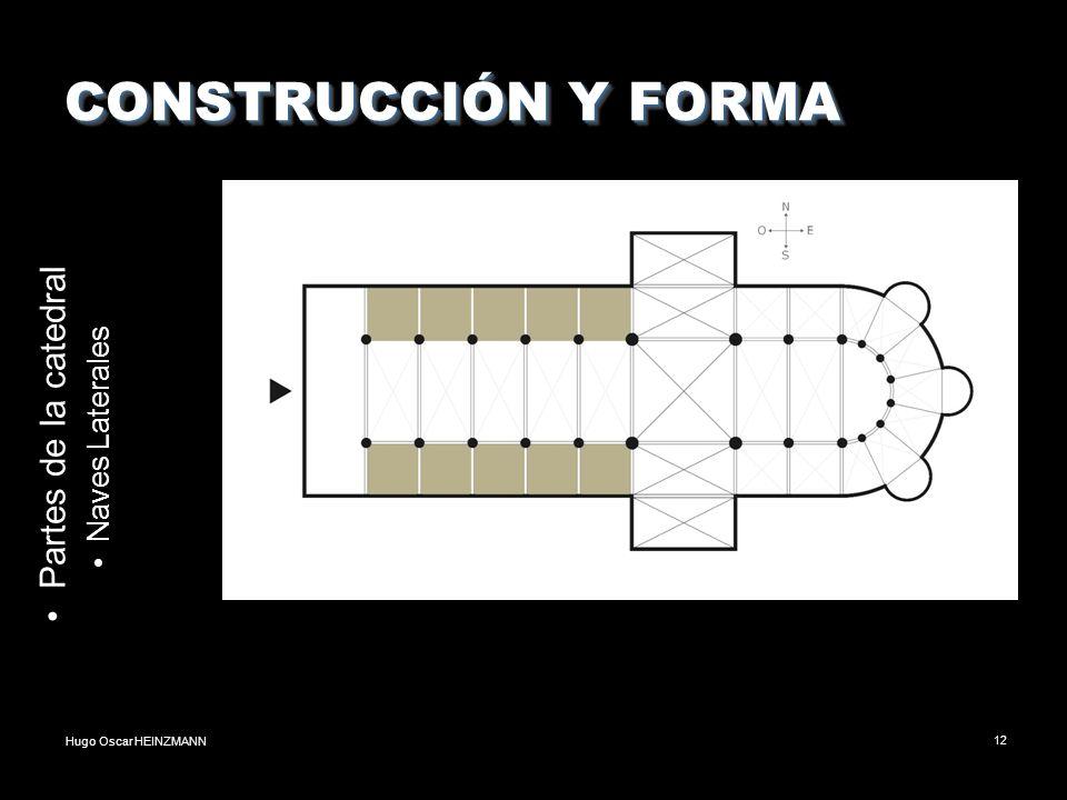 CONSTRUCCIÓN Y FORMA Partes de la catedral Naves Laterales