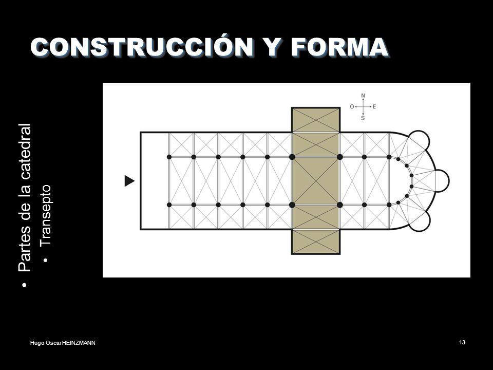 CONSTRUCCIÓN Y FORMA Partes de la catedral Transepto