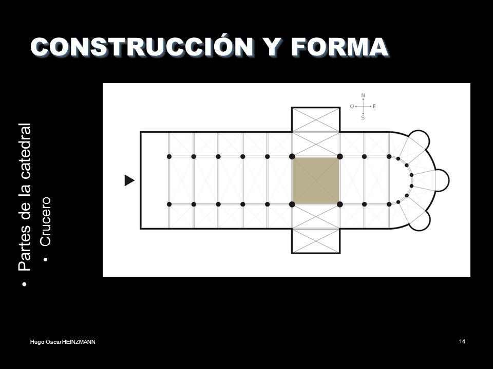 CONSTRUCCIÓN Y FORMA Partes de la catedral Crucero
