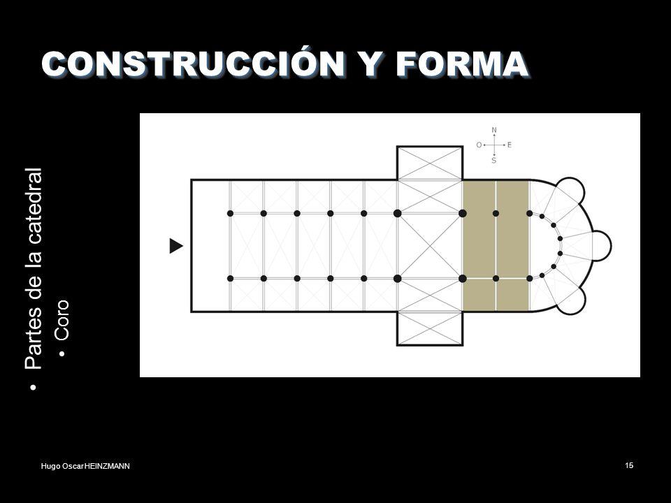 CONSTRUCCIÓN Y FORMA Partes de la catedral Coro