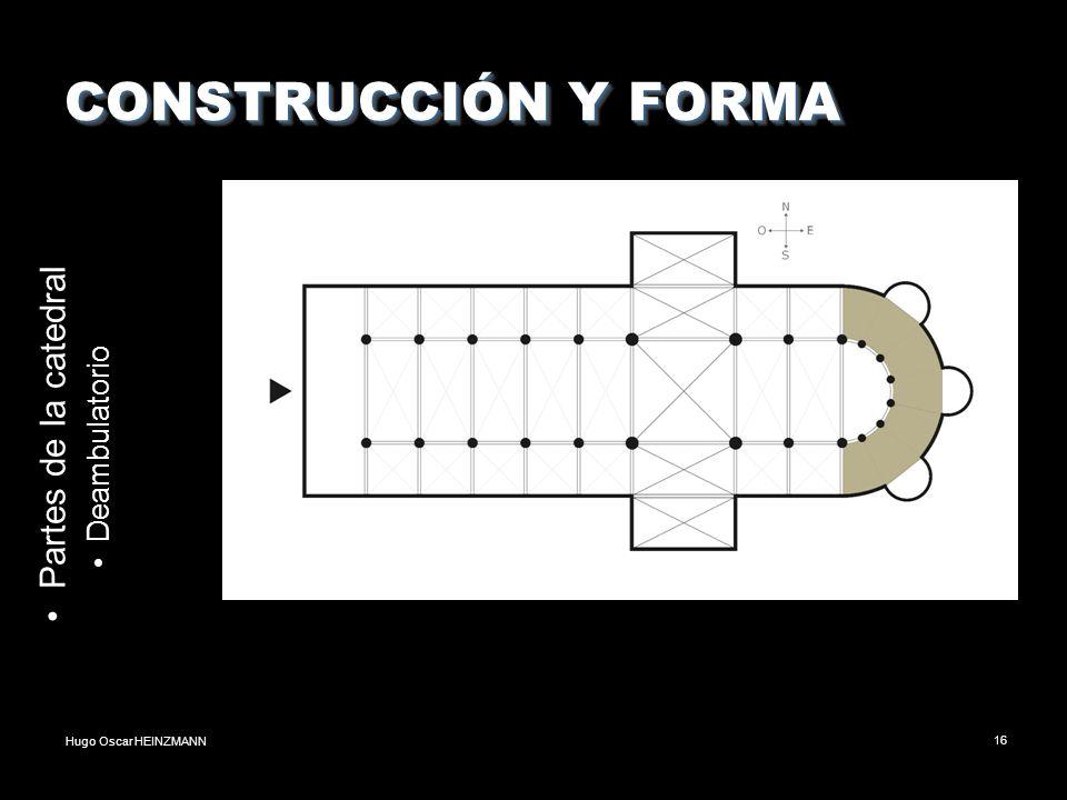 CONSTRUCCIÓN Y FORMA Partes de la catedral Deambulatorio