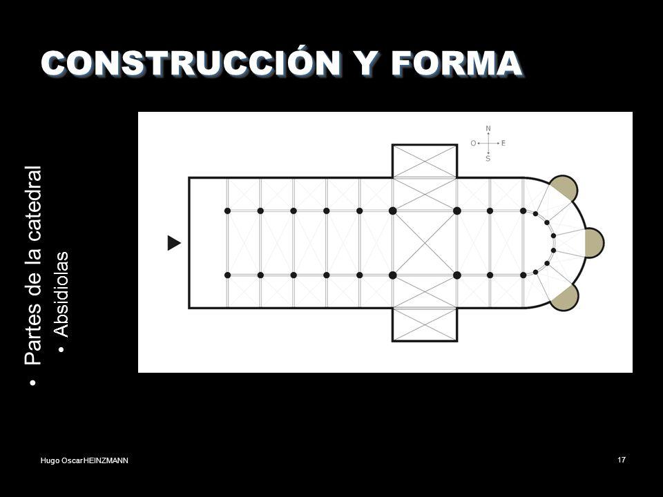 CONSTRUCCIÓN Y FORMA Partes de la catedral Absidiolas