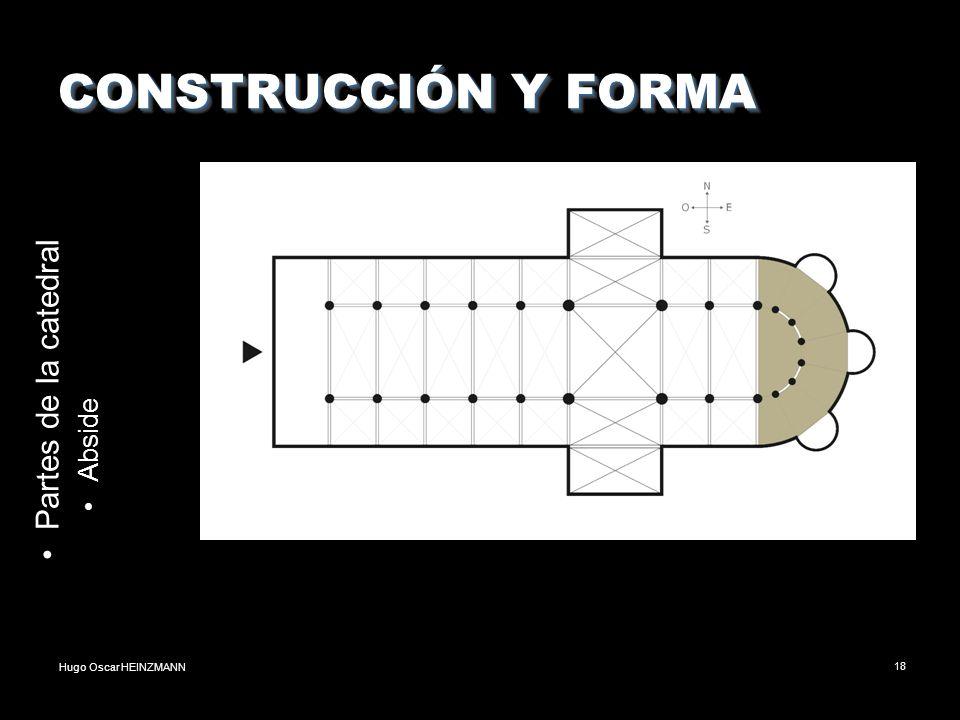 CONSTRUCCIÓN Y FORMA Partes de la catedral Abside