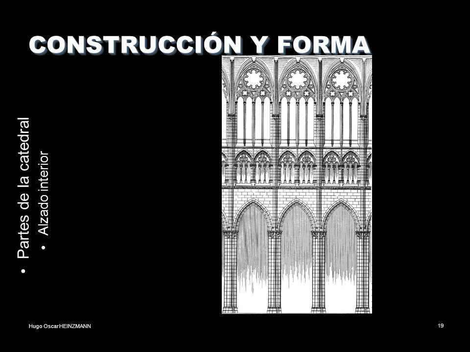 CONSTRUCCIÓN Y FORMA Partes de la catedral Alzado interior