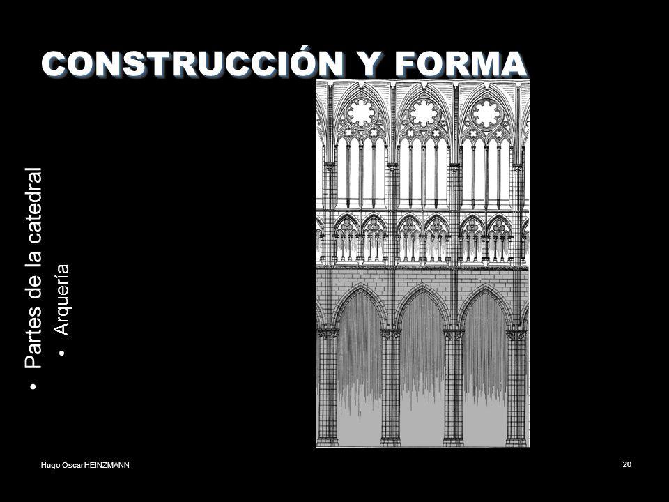 CONSTRUCCIÓN Y FORMA Partes de la catedral Arquería