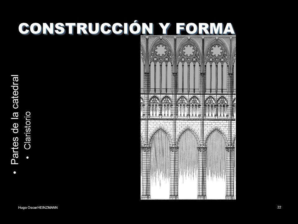 CONSTRUCCIÓN Y FORMA Partes de la catedral Claristorio