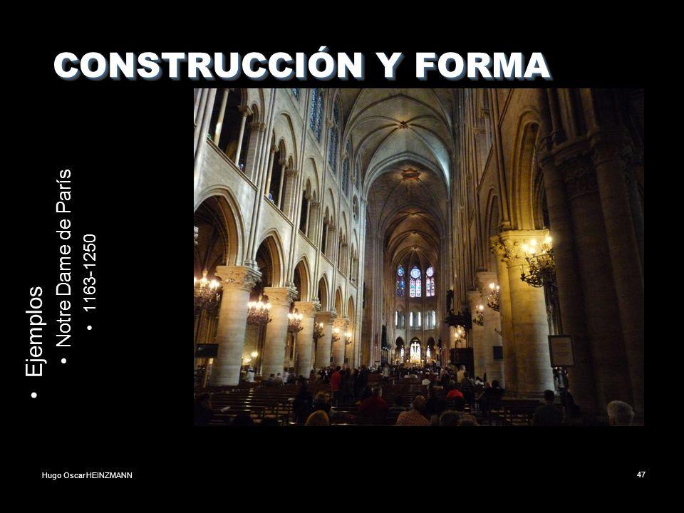 CONSTRUCCIÓN Y FORMA Ejemplos Notre Dame de París 1163-1250