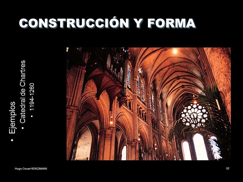 CONSTRUCCIÓN Y FORMA Ejemplos Catedral de Chartres 1194-1260