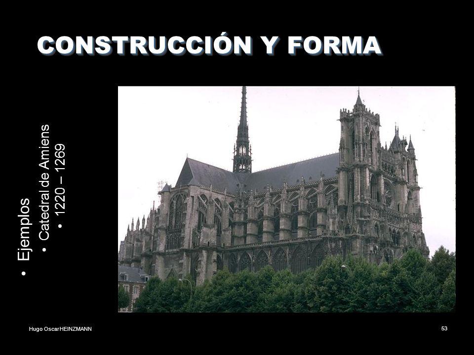 CONSTRUCCIÓN Y FORMA Ejemplos Catedral de Amiens 1220 – 1269