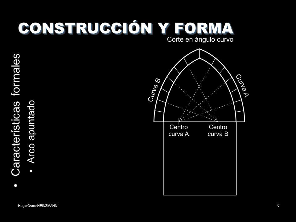 CONSTRUCCIÓN Y FORMA Características formales Arco apuntado