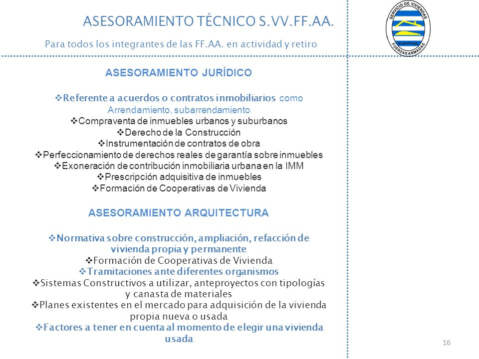 ASESORAMIENTO TÉCNICO S.VV.FF.AA.