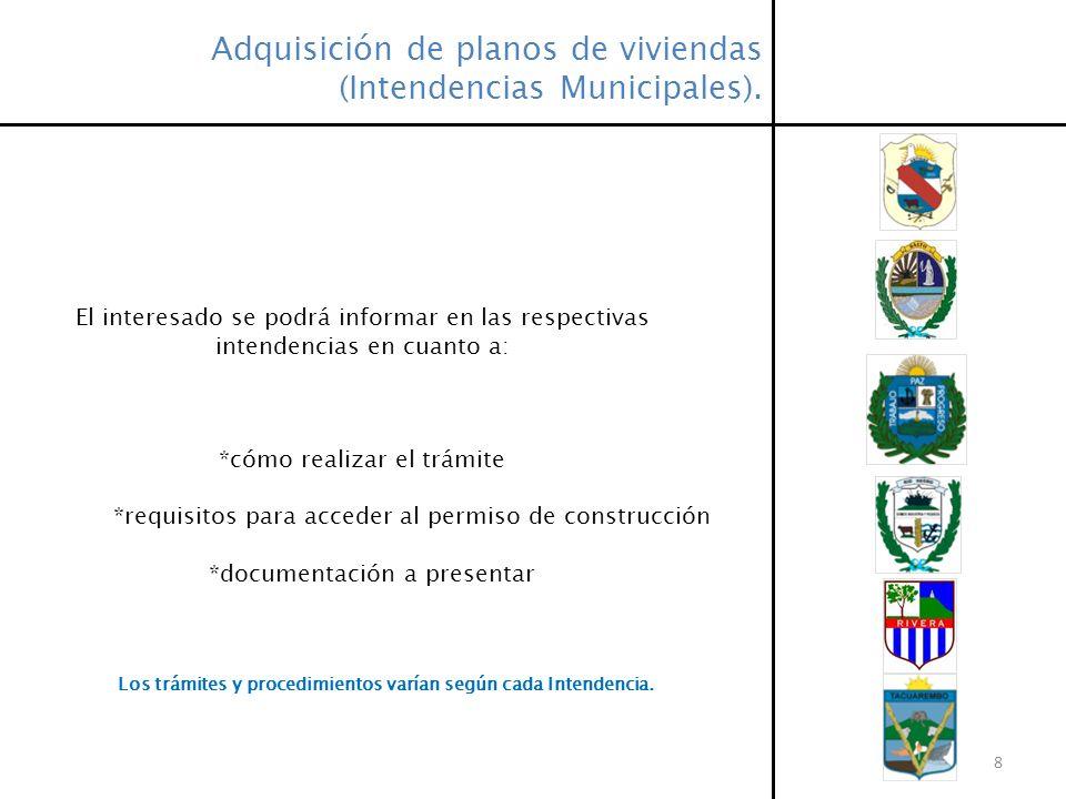 Adquisición de planos de viviendas (Intendencias Municipales).